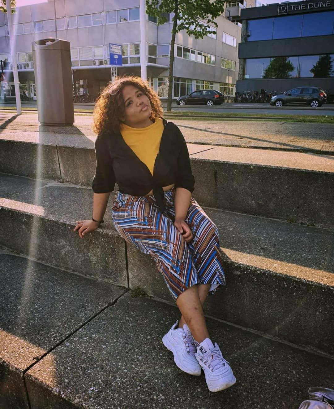 Naomi in haar eigen Creatie: StripePants by NTJ
